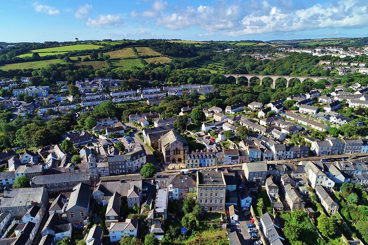 Aerial view of Penryn