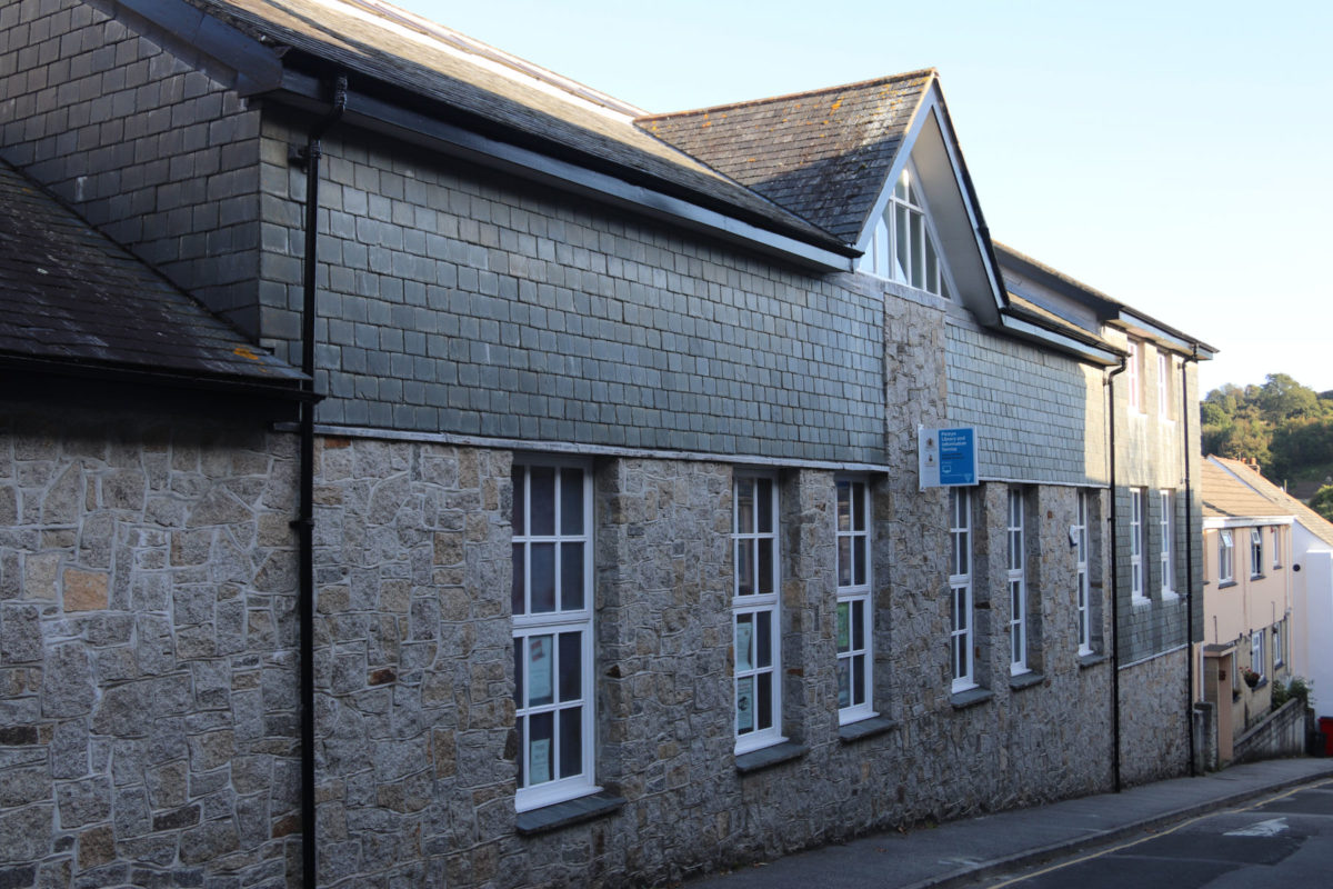 The exterior of the Penryn Library building on St Thomas Street