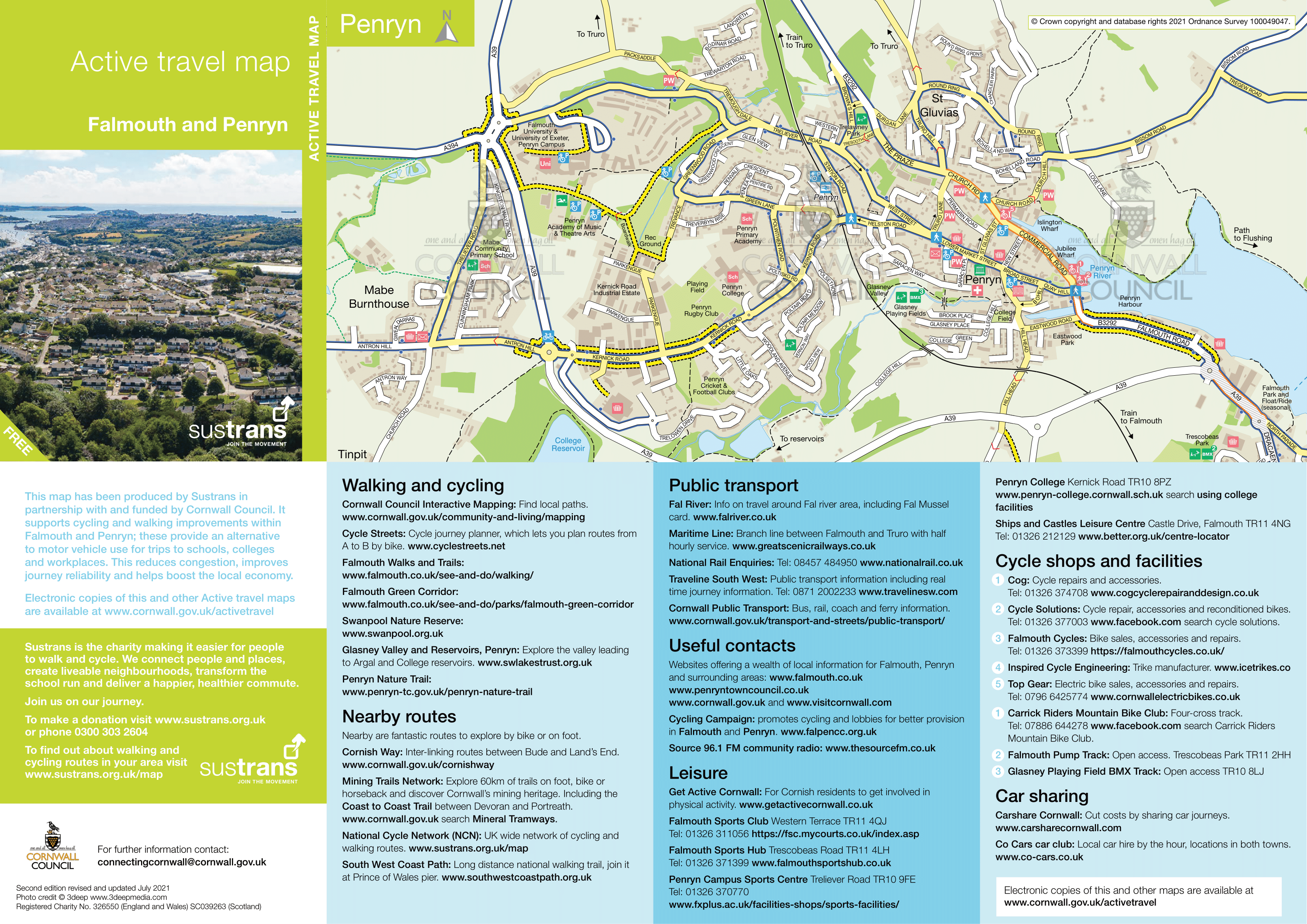 Falmouth And Penryn Active Travel Map Penryn